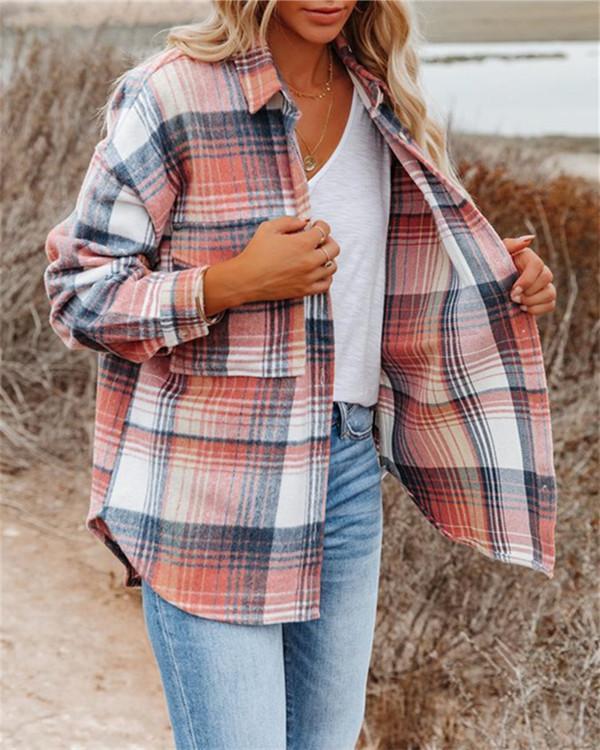 Long sleeve single breasted shirt