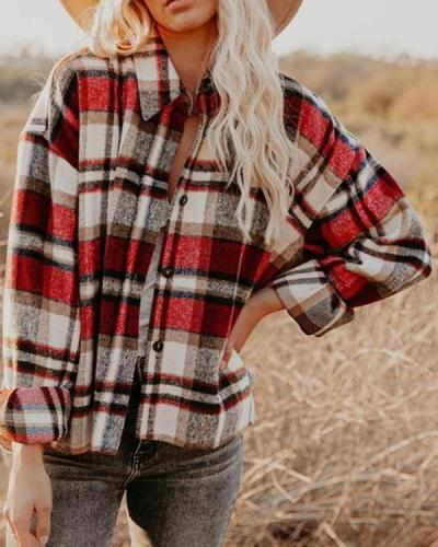 Plaid Button Down Shirt jacket