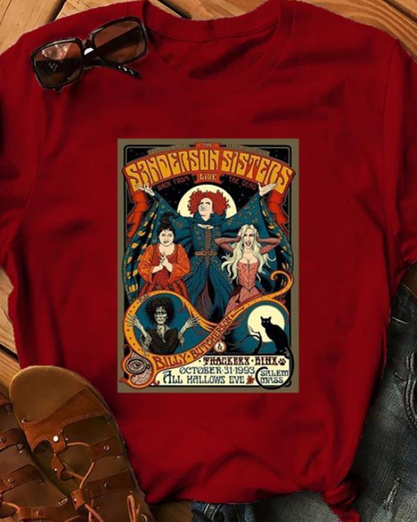 Halloween Print Casual T-Shirt Tee