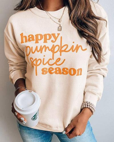 Pumpkin Spice Relax Pullover Sweatshirt