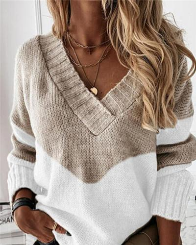 Temperament grid pattern knitted top