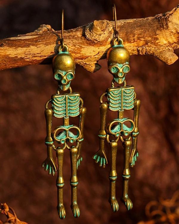 Dark Wind Halloween Skull Earrings