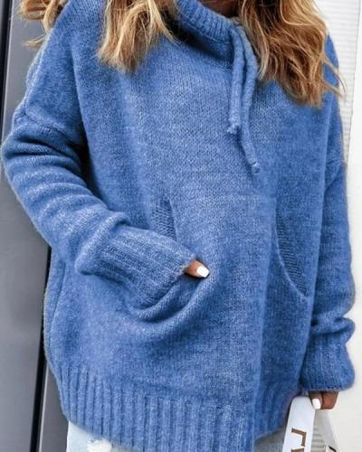 Long Sleeve Solid Acrylic Sweater