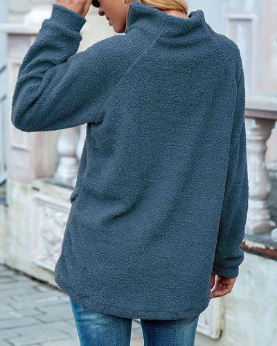 Plain Patchwork Thick Women's Hoodie