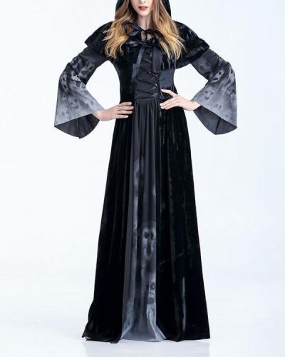 Halloween Witch Retro Palace Dress