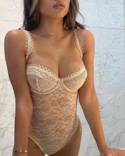 Lace Embroidered Lingerie Teddy Lingerie