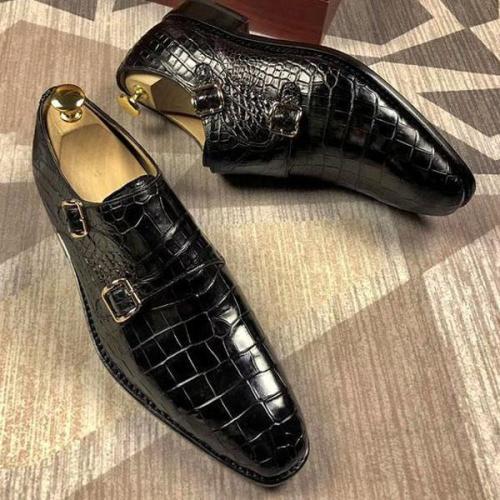 Men's Classic Double Monk Strap Dress Shoes