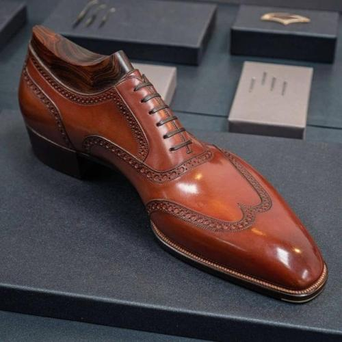 Brown Classic Men's Brogue Dress Shoes