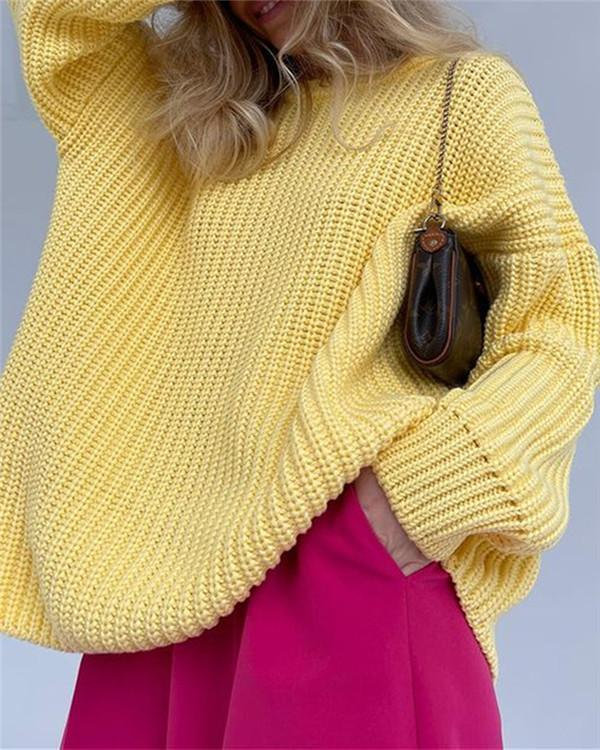 Loose Long-sleeved Round Neck Sweater