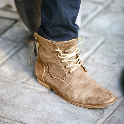 Men Lace Up Classic Ankle Boots