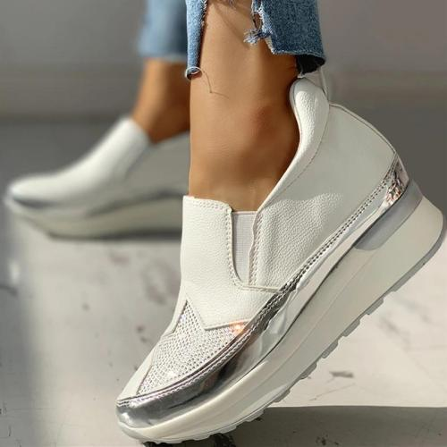 KNITTED INSERT SEQUINS MUFFIN SNEAKERS