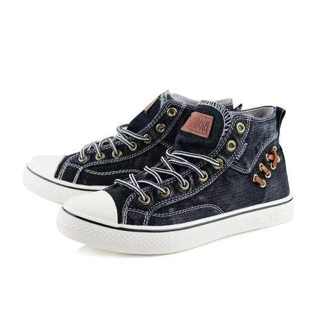 Women All Season Denim Lace-up Sneakers