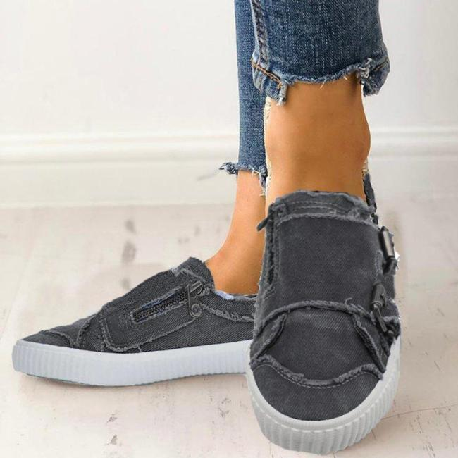 Waterproof Casual Fabric Sneakers