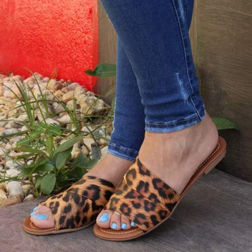 Women Sexy  Peop Toe  Leoparde Sandals