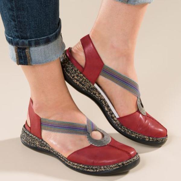Women PU Leather Soft Sandals