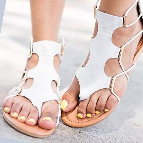 Strap Daily Beach Zipper Flip-flops Summer Sandals