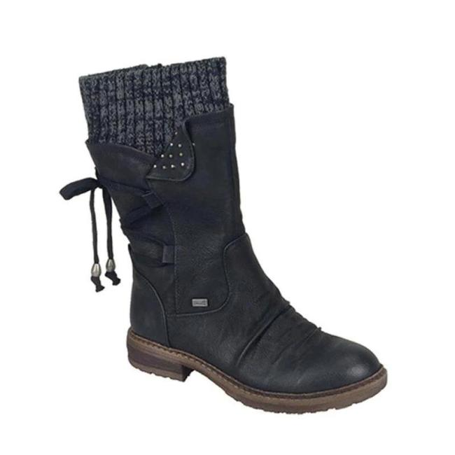 Women's Warm Back Lace-Up Winter Snow Boots
