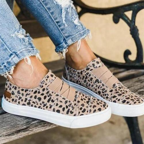 Women Latte Spots Slip on Sneakers