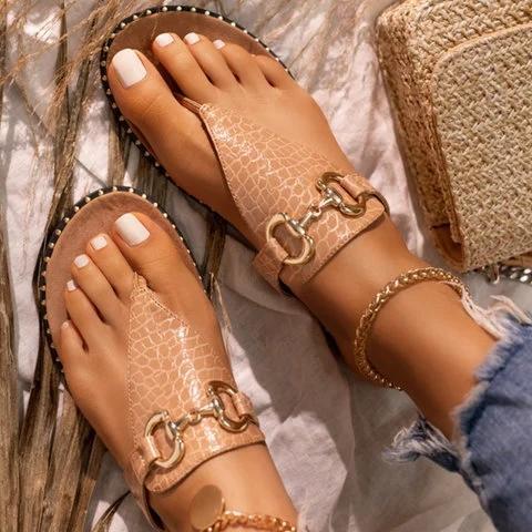 Flat PU Sandals
