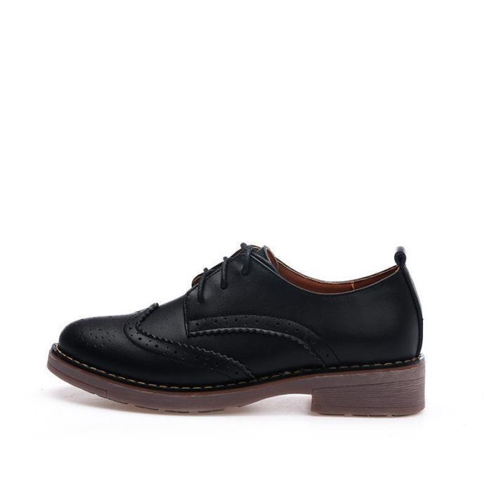 Autumn Bullock Lace-up Shoes Oxford Flat Shoes