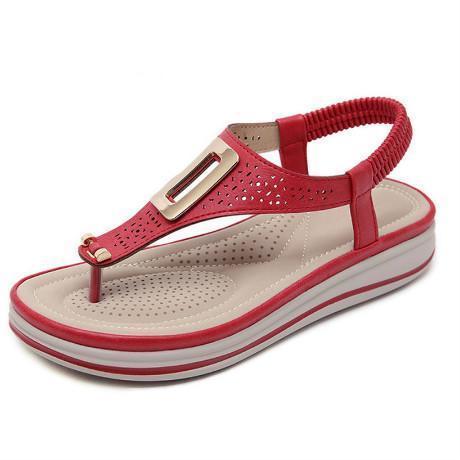 Women Solid Color Beach Sandals
