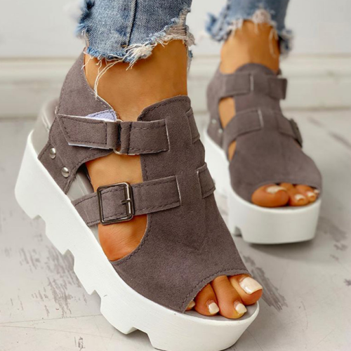 2020 Fashion Summer Platform Wedge High Heels Casual Light Leisure Sandals