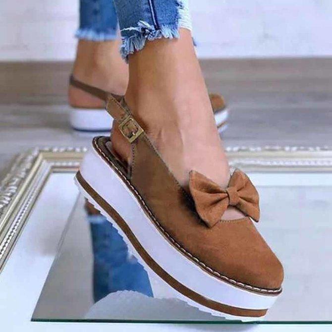 Summer Buckle Flat Sandals