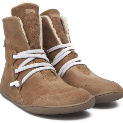 Casual Warm Lace-up Flat Ankle Boots
