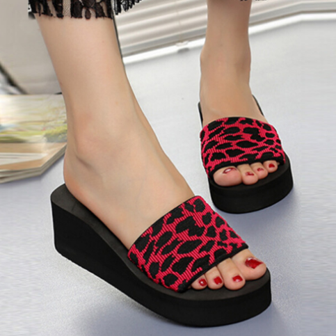 2020 Women Summer Casual Leopard print Beach Sandals