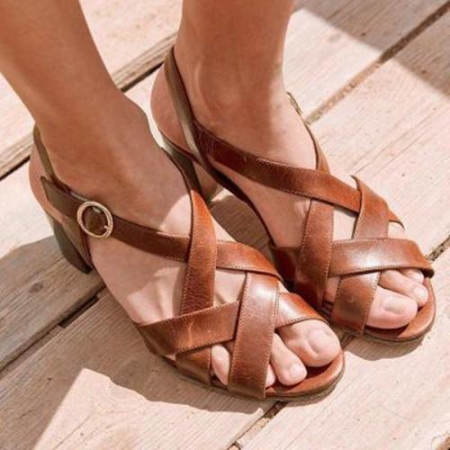 Women Casual Flat Heel Adjustable BuckleSandals