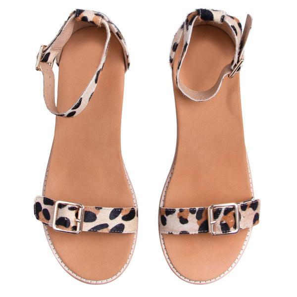 Women's fashion leopard stripe sandals