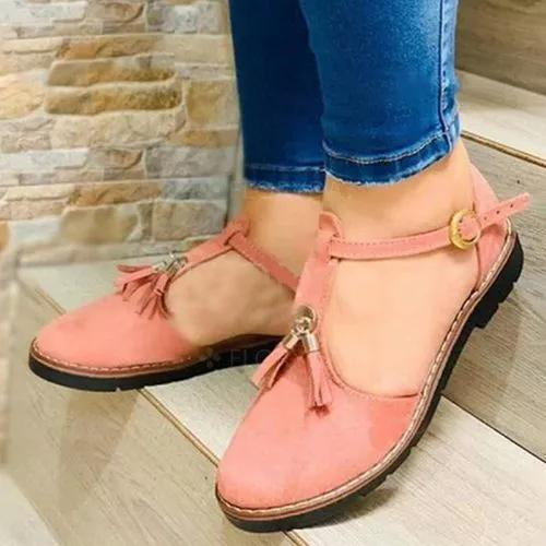 Women's Buckle Closed Toe Low Heel Sandals