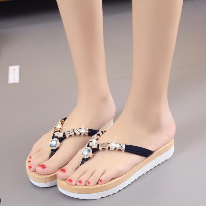 Women Flats Sandals Ladies Beach Slippers Girls Flip-flops