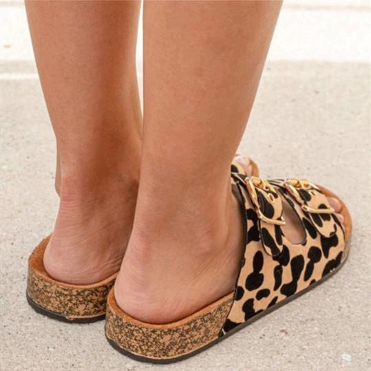 Leopard fashion casual sandals