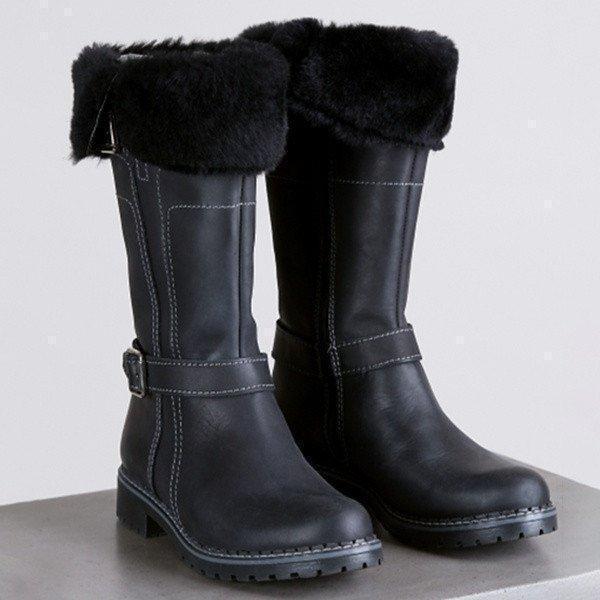 Women Keep Warm Comfortable Martin Boots Zipper Snow Boots