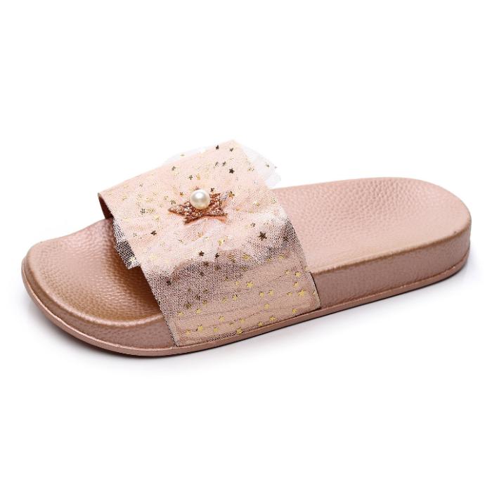 Flat Fashion Sequins Ribbons Summer Women's Sandals