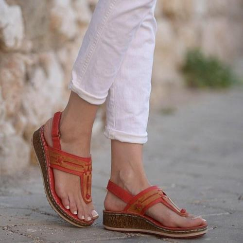 Women Adjustable Buckle Open Toe  Summer Beach Sandals