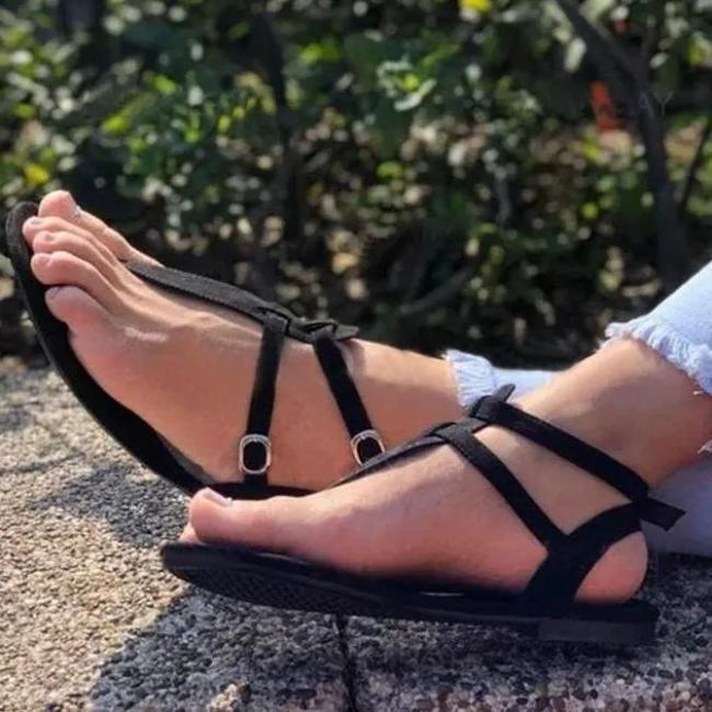 Rubber Buckle Strap Casual Sandals