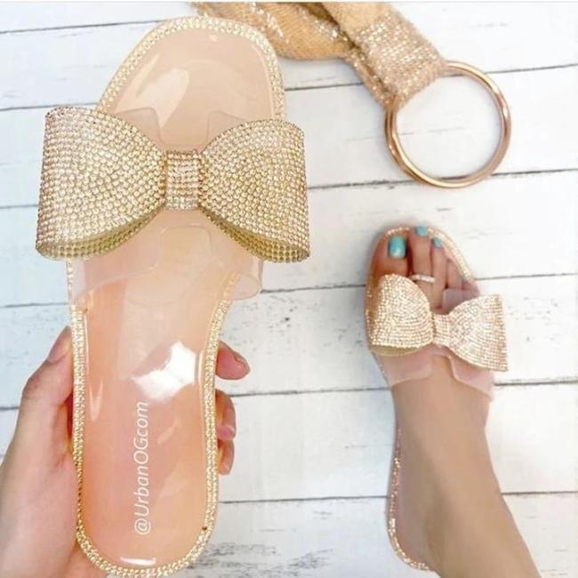 Summer Sparkling Glitter Slippers