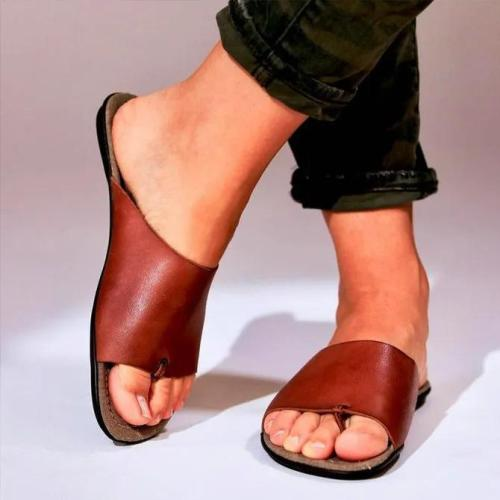 Summer Pu Flat Slipper