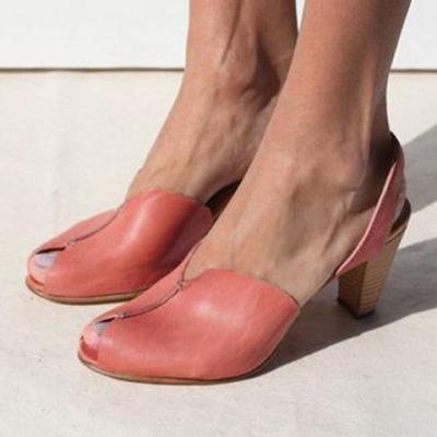 Women's Elegant Casual Peep Toe Sandals