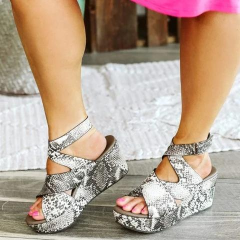 Snakeskin Casual Summer Leather Sandals