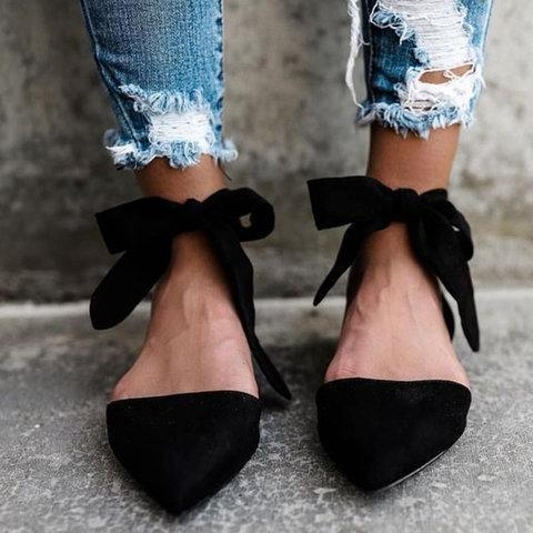 Low Heel Lace Sandals
