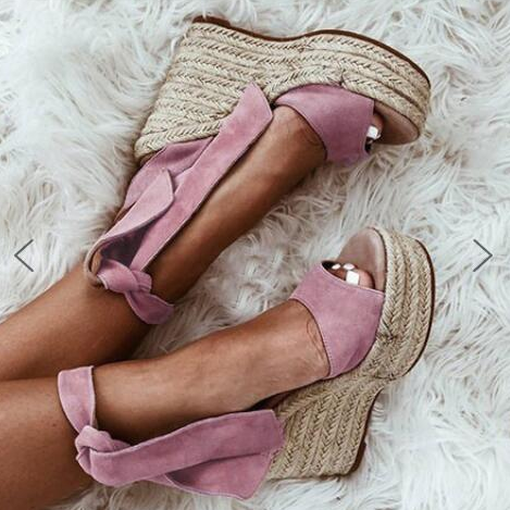 Woman Summer Platform Bohemia High Heel Wedge Sandals