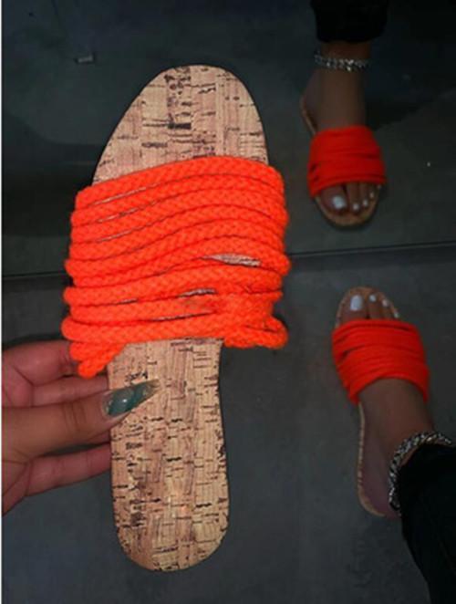 Open Toe Slip-On Sandals