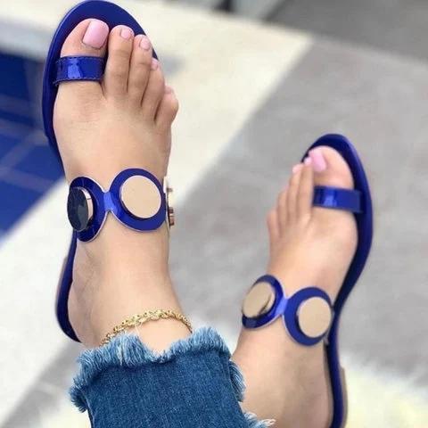 Pu Ring Toe Sandals