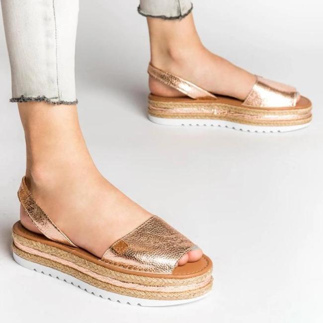 Women Seaside Flat Heel Slip On Sandals