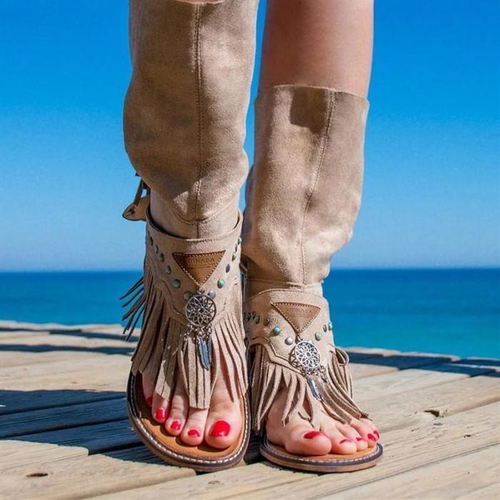 Flat Tassel Holiday Beach Sandals