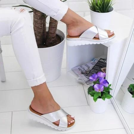 Women Cross Slip-on Sandals