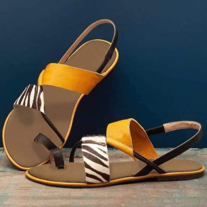 Women Summer Slip On Flat Beach Sandals